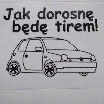 Naklejka VW Volkswagen Lupo