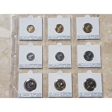 Menniczy zestaw monet obiegowych 2010 UNC