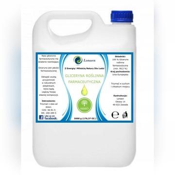 Gliceryna Roślinna Farmaceutyczna CZYSTA 5KG 99,5%
