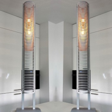 Dekoracyjna lampa stojąca szary Loft Industrial.