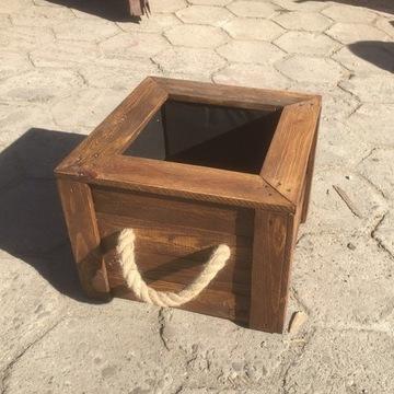 EKO Drewniana donica ocieplana kwadrat