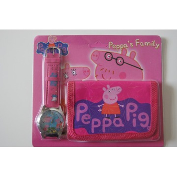 Peppa zegarek na rękę + portfel