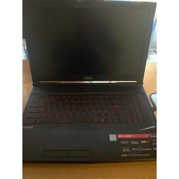 Laptop do gier MSI GL63  i7-8750 16GB  GTX1060