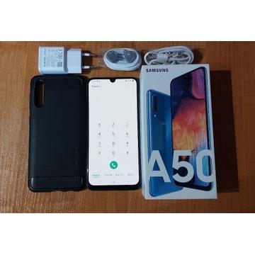 Samsung Galaxy A50 niebieski 100% SPRAWNY KOMPLET!