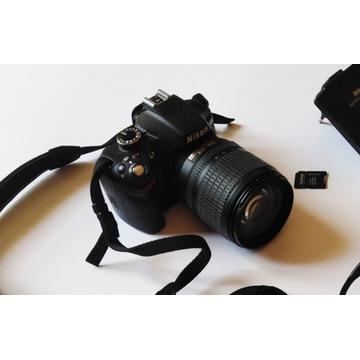 NIKON D3200 + NIKKOR 18-105 MM (około 8290 zdjęć)