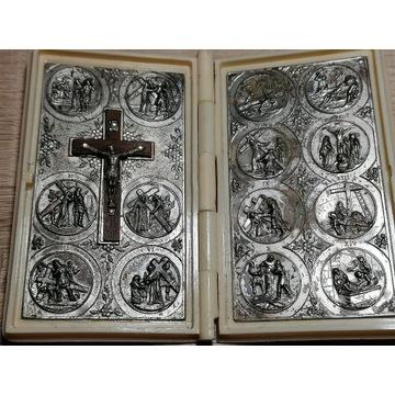 Zabytkowa z Rzymu książeczka droga krzyżowa