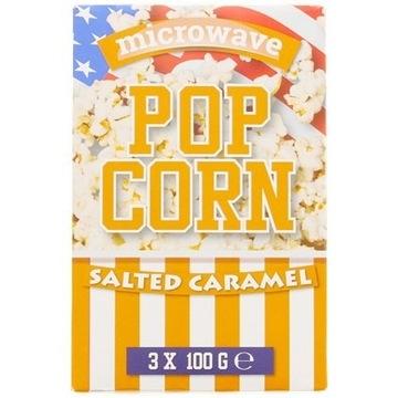Popcorn do mikrofalóki Karmel i sól morska 3 x 100