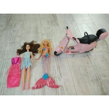 Barbie syrenka świeci skuter 3 szt