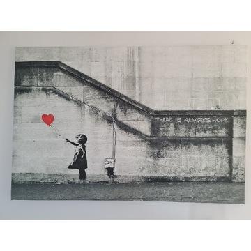 Obraz na płótnie  Banksy - Dziewczynka 120 x 80