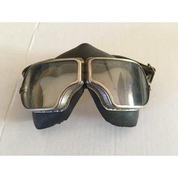 gogle okulary motocykl pilot antyk rarytas