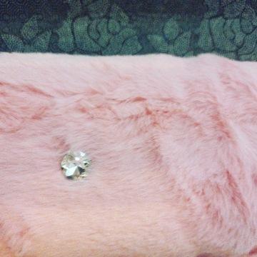 Dywan glamour różowy z kryształkami rabbit GĘSTY