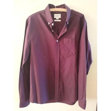 Bordowa burgundowa koszula Pull&Bear regular fit L