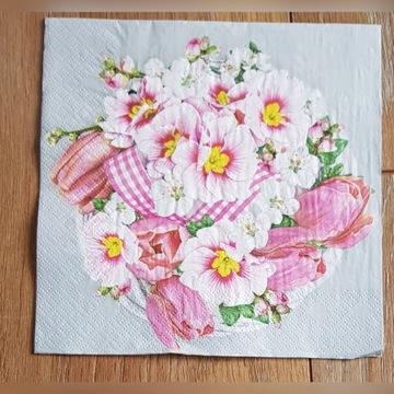 Serwetki do decoupage kwiaty bukiet 33x33-2szt.