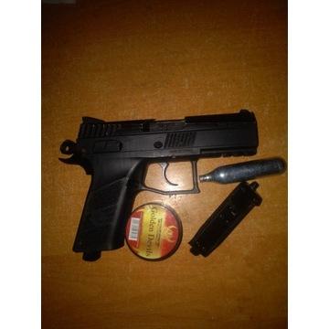 Wiatrówka Pistolet CZ 75 P-07 BLOWBACK + BB + CO2