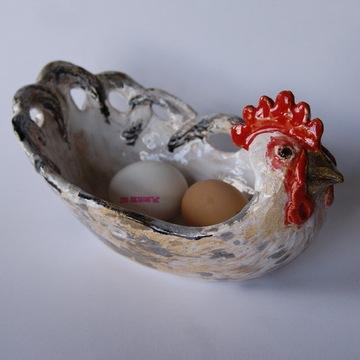 naczynie ceramiczne miska kura ozdoba wielkanocna
