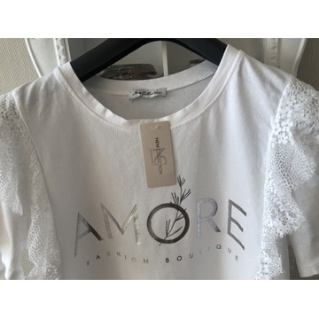 Koszulka falbany napis włoska HIT
