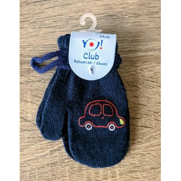 Rękawiczki dziecięce 14 cm z autem Yo! Club