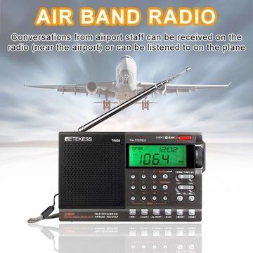 Radio RETEKESS TR608 Pasmo Lotnicze AM FM MW SW