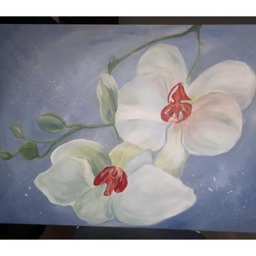 Orchidee. Akryl na płótnie 60x80 cm. 2021