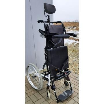 Wózek inwalidzki z pionizacją lekki sprawny zadban
