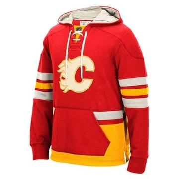 Calgary Flames - CCM Pullover NHL Bluza z kapturem