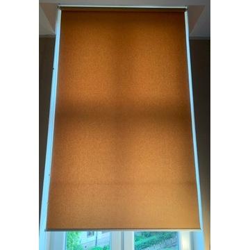 Roleta materiałowa beżowa 114 cm x 250 cm