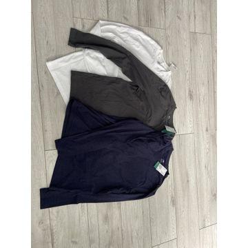 H&M koszulka z długim rękawem 3 sztuki M