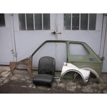 Bok Fiat 126p maluch stary typ wąski wlot