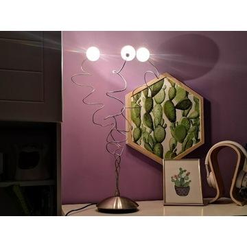 Lampa stołowa Italux 3 punktowa szklane klosze kul