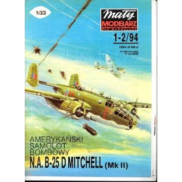 Mały Modelarz 1-2 1994 B-25 Mitchel model 1:33 org