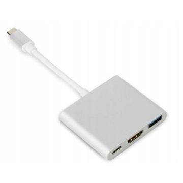 Adapter przejściówka ZENWIRE 3w1 HUB USB-C