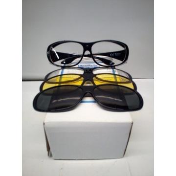 Okulary ochronne z 3-ma oprawkami
