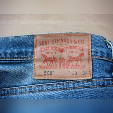 Jeansy LEVI'S 508 tapered 33/34 _ SUPER STAN