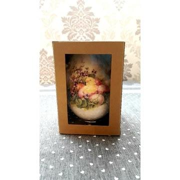 Jajko decoupage WIELKANOC 12 cm w pudełku HandMade