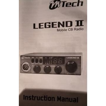 CB radio Mtech Legend 2 z anteną