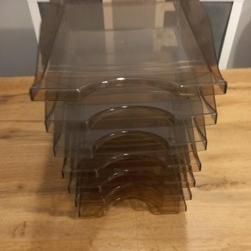 Półka na dokumenty A4 szufladka tacka dymna