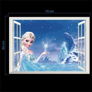 Królowa śniegu Aurora księżniczka naklejki na okna