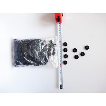 Guziki czarne 18 mm 18mm 330 paczka plastikowe