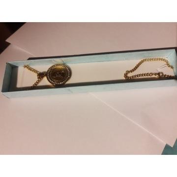 Przepiękny łańcuszek,medalion Maryi Panny