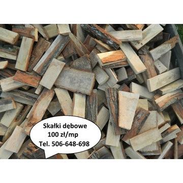 Opał skałki polana drewno dębowe dąb