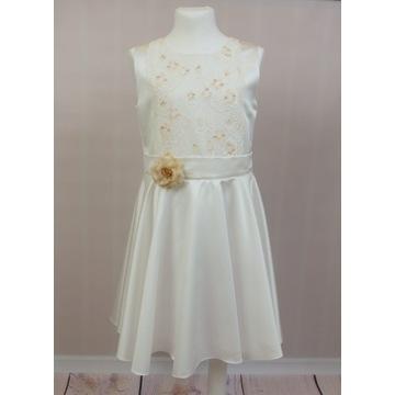 Sukienka wizytowa Amelia 146 cm komunia wesele