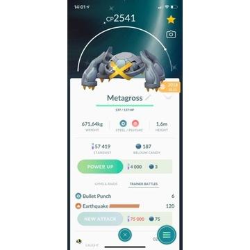 "Shiny trade ""Metagross"". Pokemon Go 2018r"