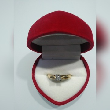 Pierścionek z brylantem 0,05ct złoto próba 585