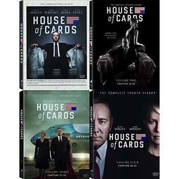 House of Cards 1-4 sezon DVD