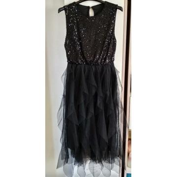 Sukienka Renee, S/M, cekiny, tiul + szpilki 38
