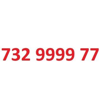 732 9999 77 starter play ładny złoty numer