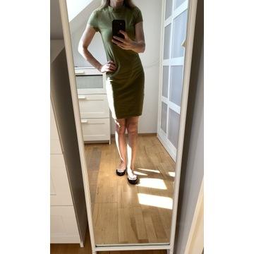 Oliwkowa sukienka Sinsay S