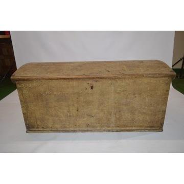 Skrzynia drewniana, kufer, antyk, duża