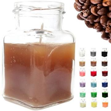PK3E Świeca Zapachowa BRĄZOWA KAWA kawowa w słoiku