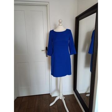 Niebieska prosta sukienka z kieszeniami 36/38 GAP